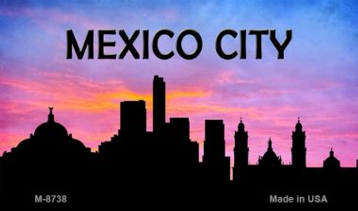 Mexico City Silhouette Novelty Metal Magnet