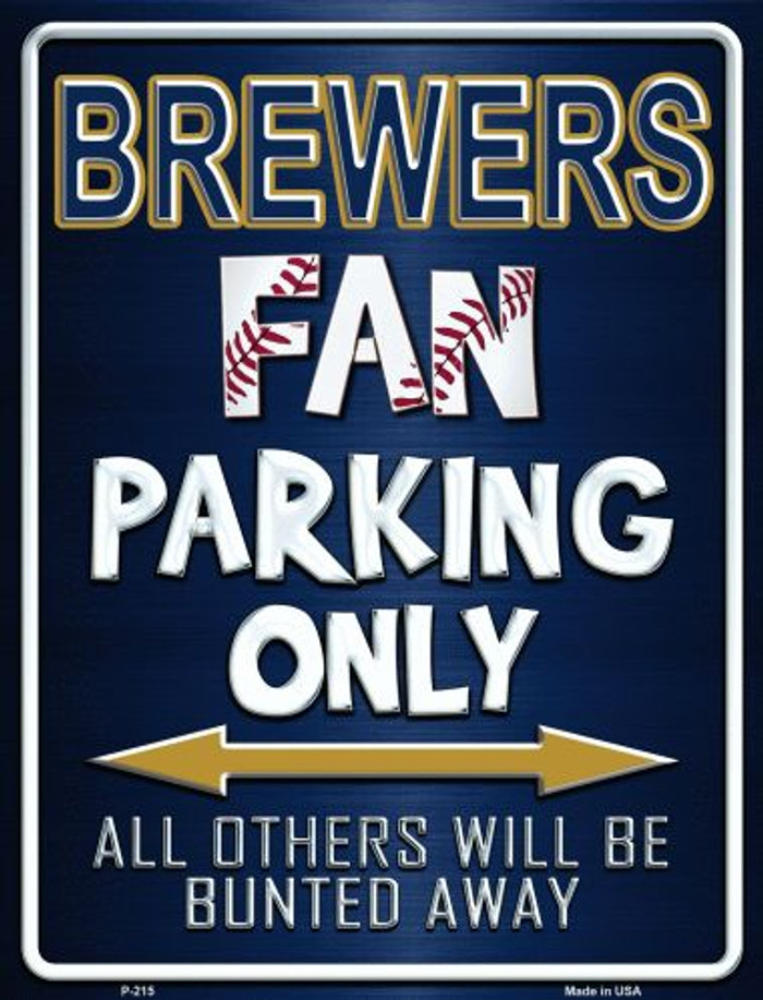 Brewers Metal Novelty Parking Sign