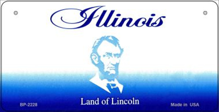 Illinois Novelty State Background Bicycle License Plate BP-2228