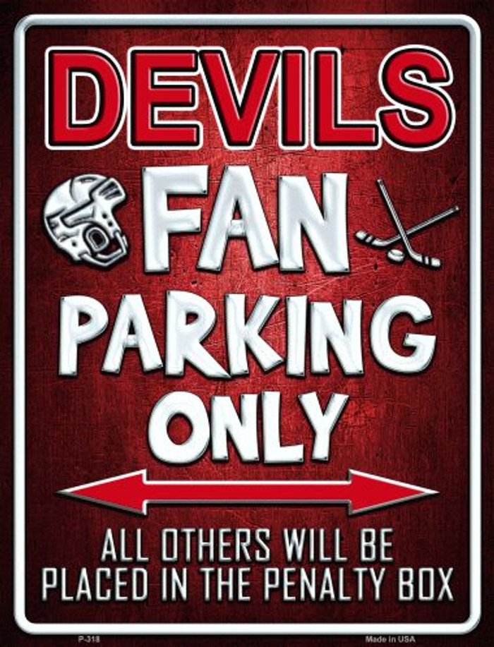Devils Metal Novelty Parking Sign