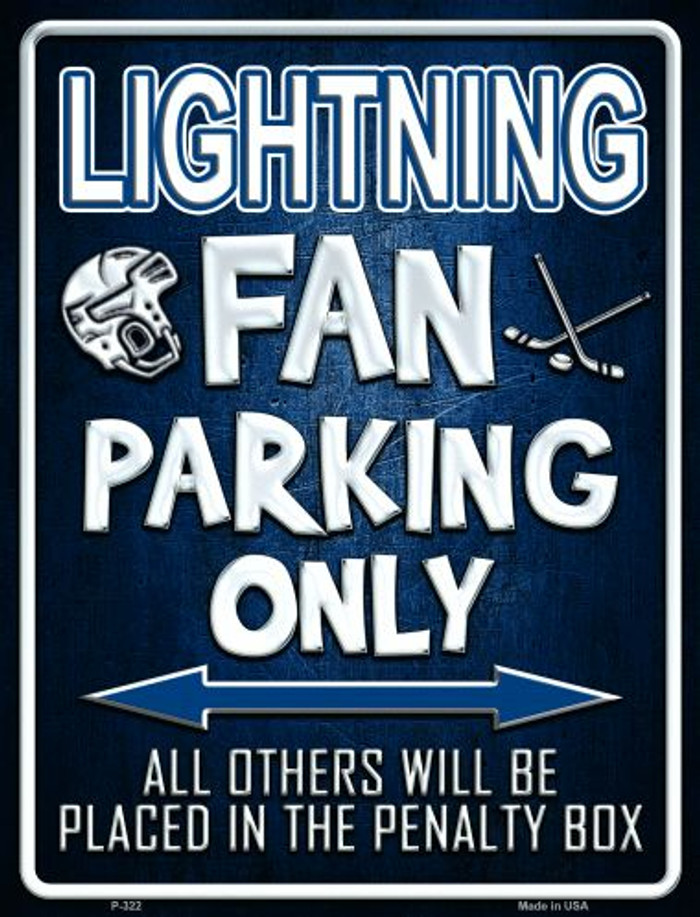 Lightning Metal Novelty Parking Sign
