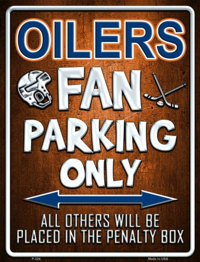 Oilers Metal Novelty Parking Sign