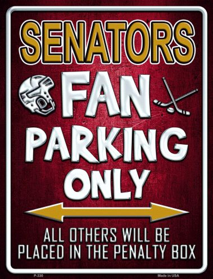 Senators Metal Novelty Parking Sign