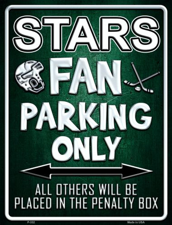 Stars Metal Novelty Parking Sign