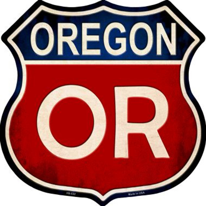 Oregon Metal Novelty Highway Shield