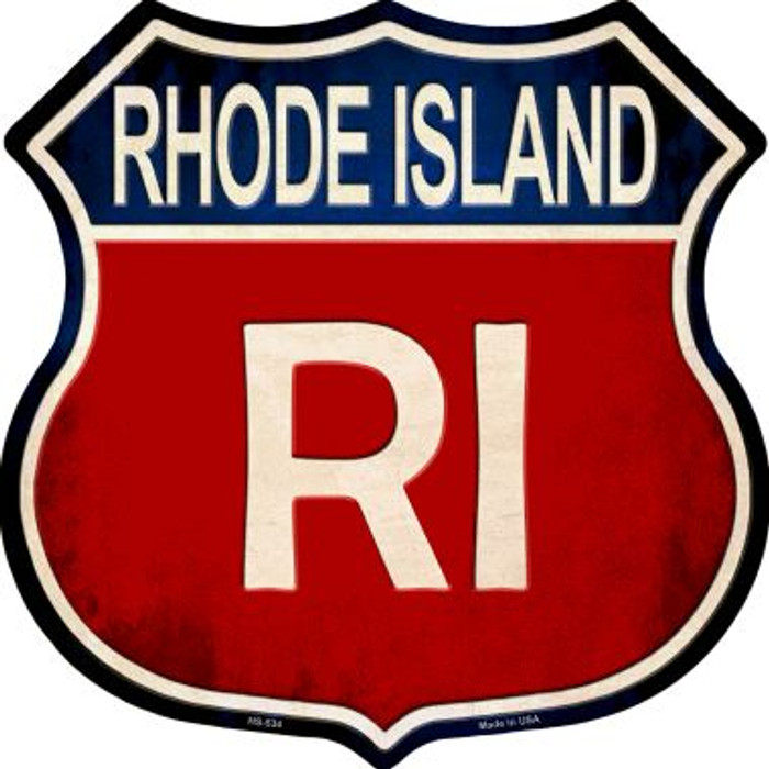 Rhode Island Metal Novelty Highway Shield