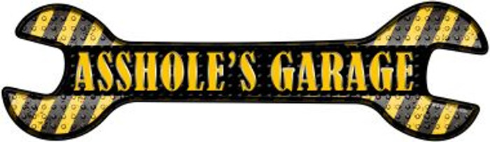 Assholes Garage Novelty Metal Wrench Sign