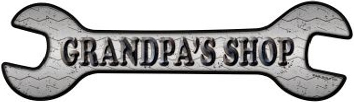 Grandpas Shop Novelty Metal Wrench Sign