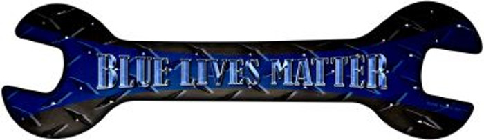 Blue Lives Matter Novelty Metal Wrench Sign