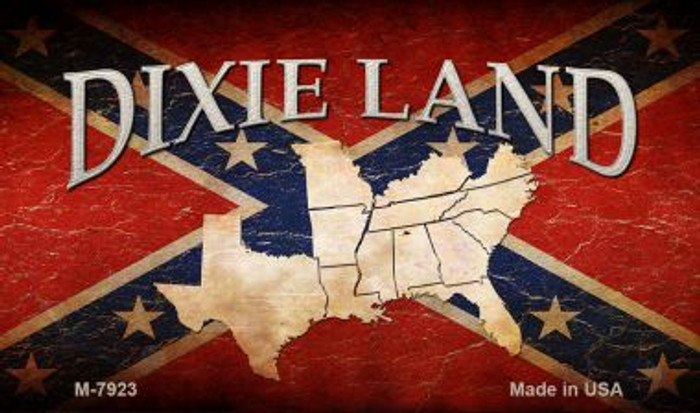 Dixie Land Novelty Metal Magnet