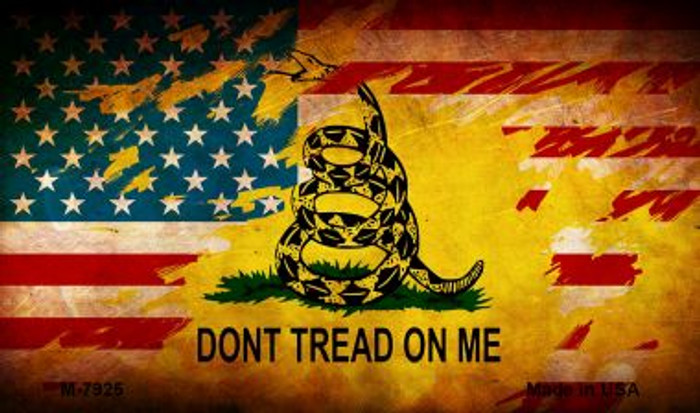 Dont Tread On Me Novelty Metal Magnet