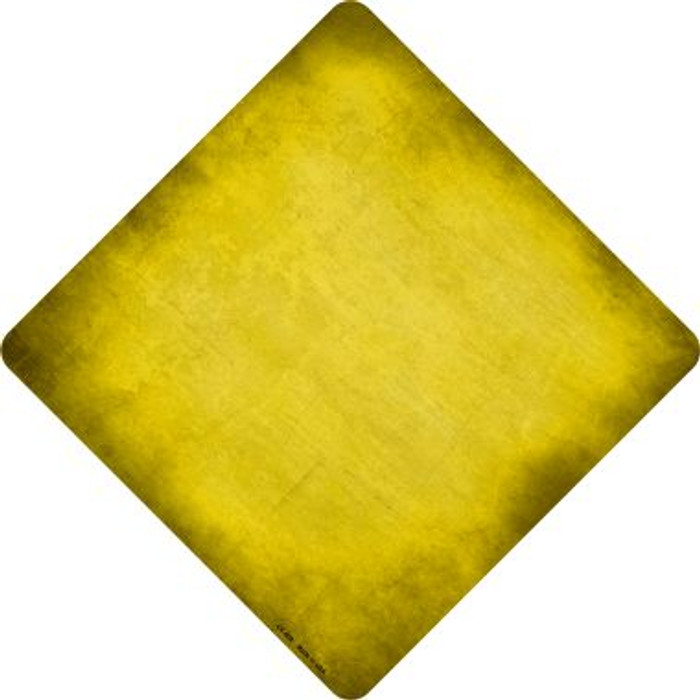 Yellow Oil Rubbed Novelty Metal Crossing Sign
