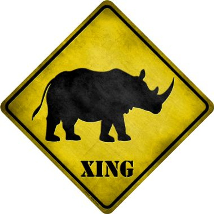 Rhino Xing Novelty Metal Crossing Sign