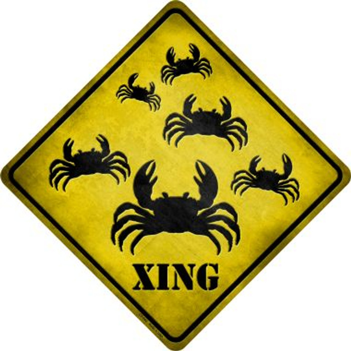 Crab Xing Novelty Metal Crossing Sign