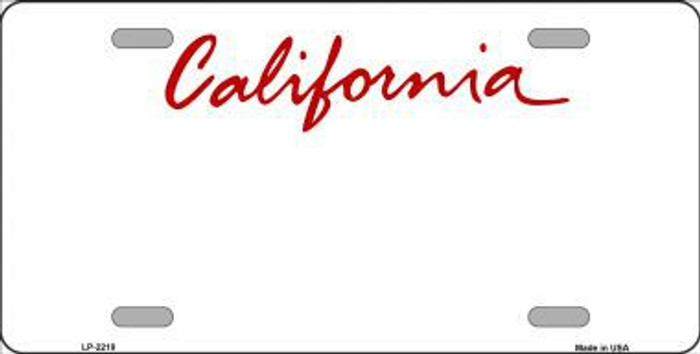 California State Background Blank Novelty Metal License Plate
