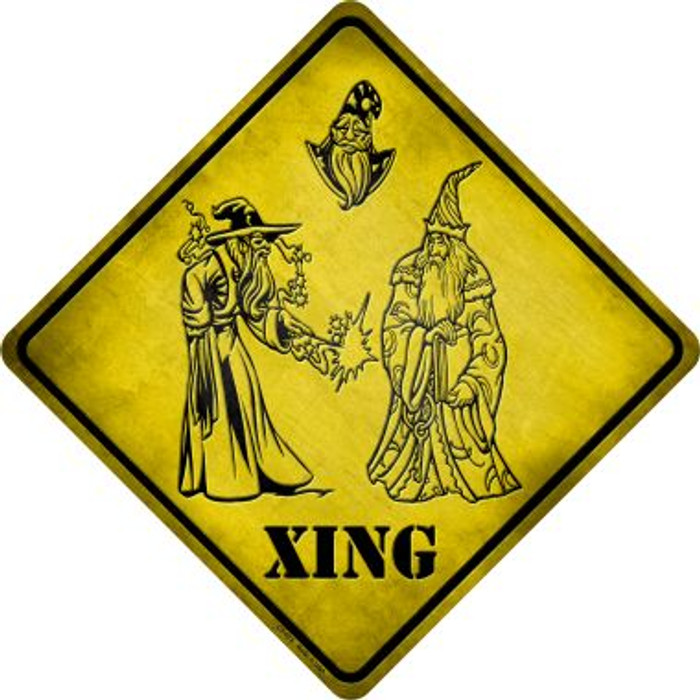 Wizards Xing Novelty Metal Crossing Sign
