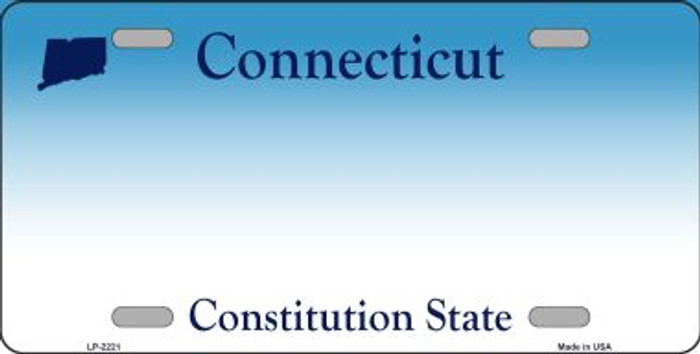 Connecticut State Background Blank Novelty Metal License Plate