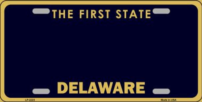Delaware State Background Novelty Blank Metal License Plate LP-2223