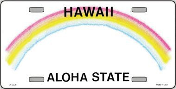 Hawaii Novelty State Background Blank Metal License Plate