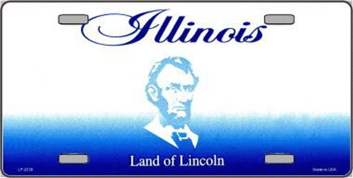 Illinois Novelty State Background Blank Metal License Plate