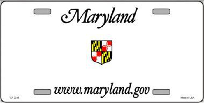 Maryland Novelty State Background Blank Metal License Plate