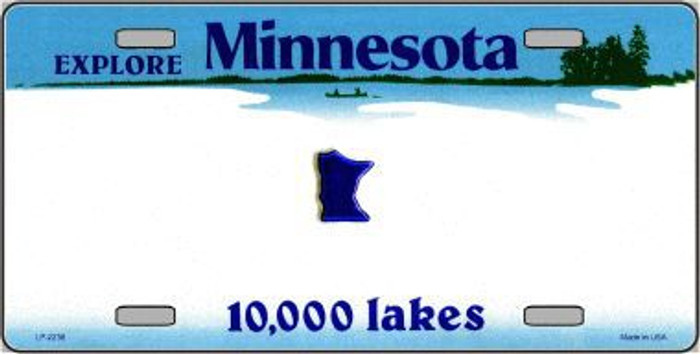 Minnesota Novelty State Background Blank Metal License Plate