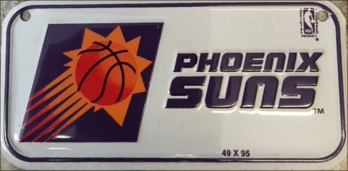 Phoenix Suns Novelty Metal Bicycle License Plate