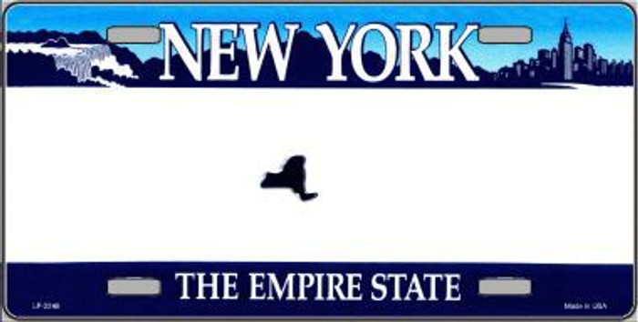 New York State Novelty State Background Blank Metal License Plate