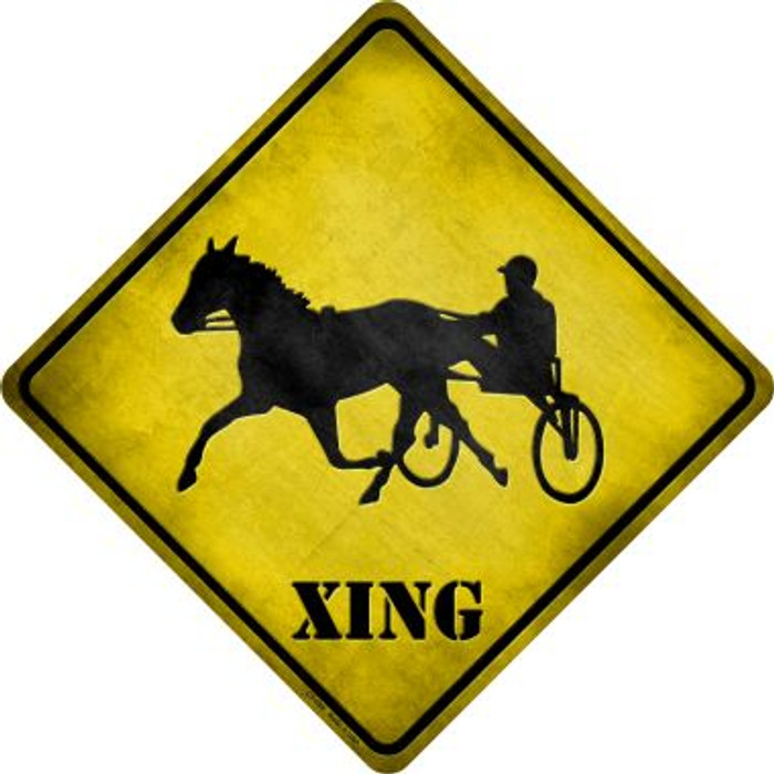 Harness Racing Xing Novelty Metal Crossing Sign
