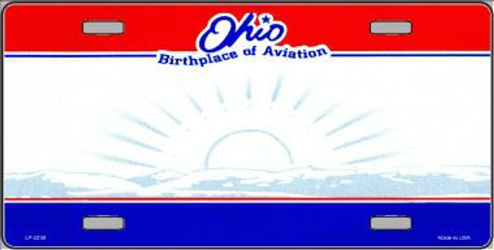 Ohio Novelty State Background Blank Metal License Plate