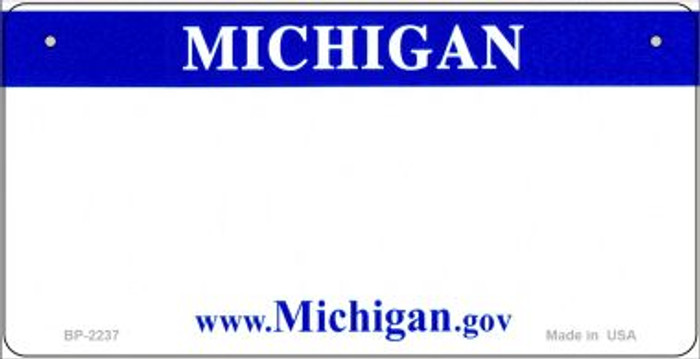 Michigan Novelty State Background Bicycle License Plate