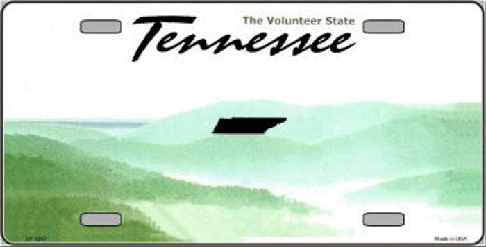 Tennessee Novelty State Background Blank Metal License Plate
