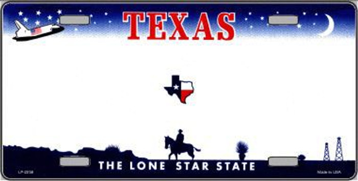 Texas Novelty State Background Blank Metal License Plate