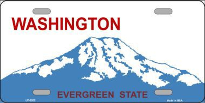 Washington Novelty State Background Blank Metal License Plate