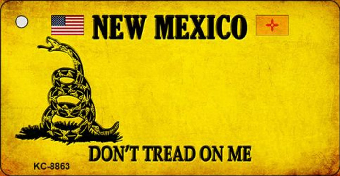 New Mexico Don't Tread On Me Novelty Metal Key Chain