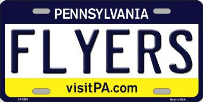 Flyers Pennsylvania Novelty State Background Metal License Plate