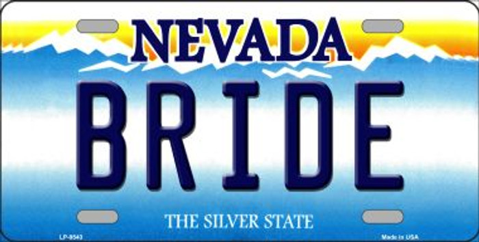 Bride Nevada Background Novelty Metal License Plate