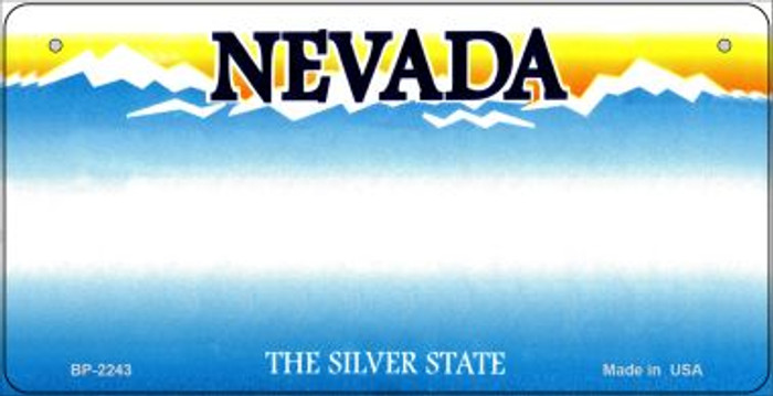 Nevada Novelty State Bicycle License Plate BP-2243