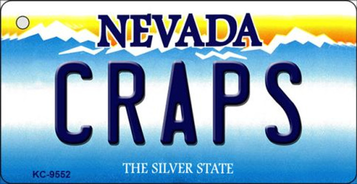 Craps Nevada Background Novelty Key Chain