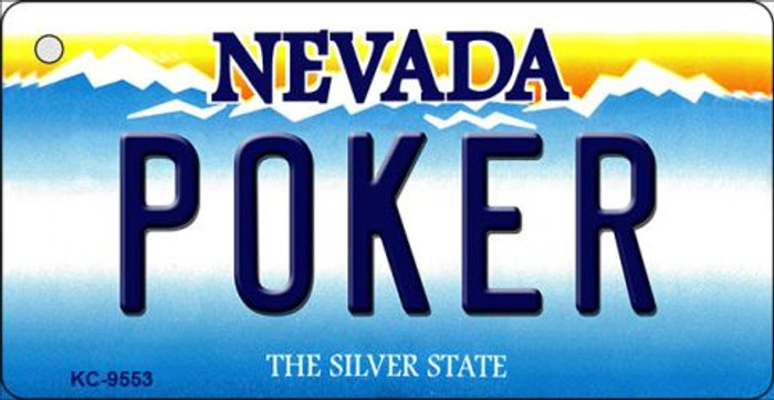 Poker Nevada Background Novelty Key Chain