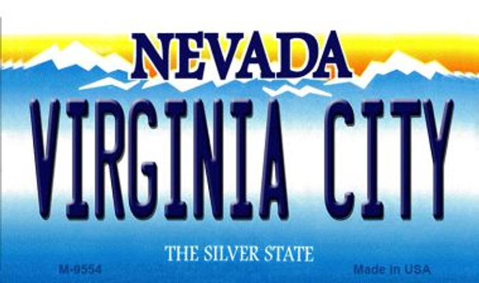Virginia City Nevada Background Novelty Metal Magnet