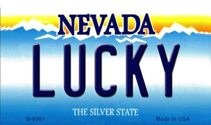 Lucky Nevada Background Novelty Metal Magnet