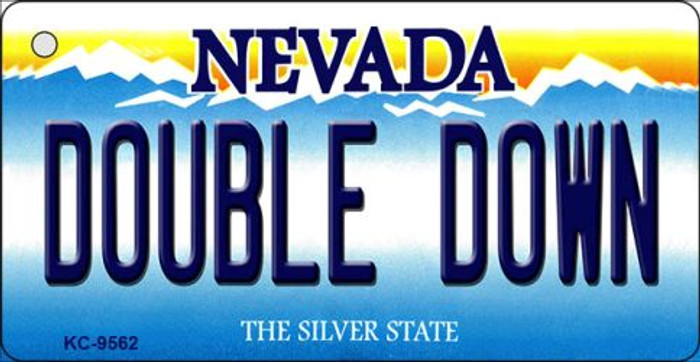 Double Down Nevada Background Novelty Key Chain