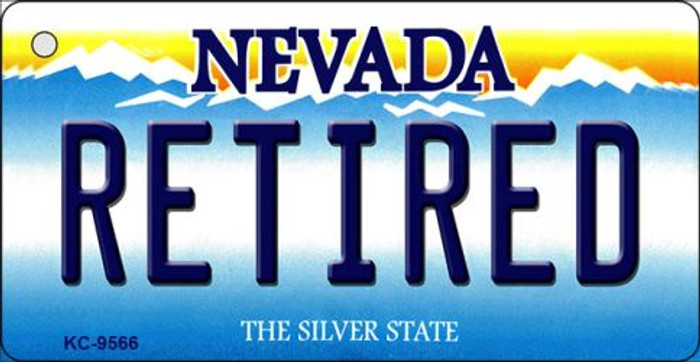 Retired Nevada Background Novelty Key Chain