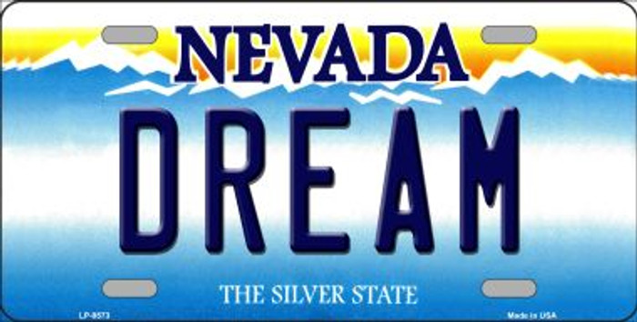Dream Nevada Background Novelty Metal License Plate