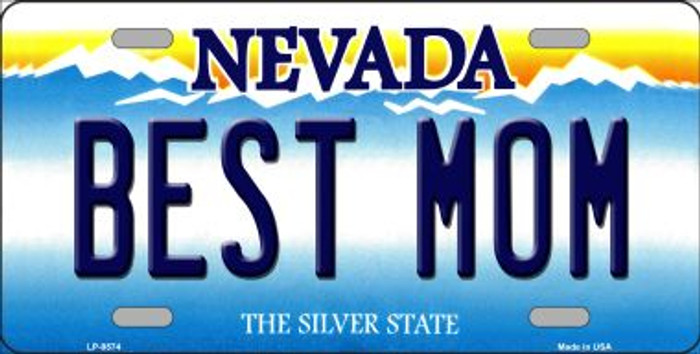 Best Mom Nevada Background Novelty Metal License Plate