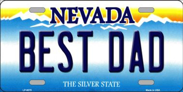 Best Dad Nevada Background Novelty Metal License Plate