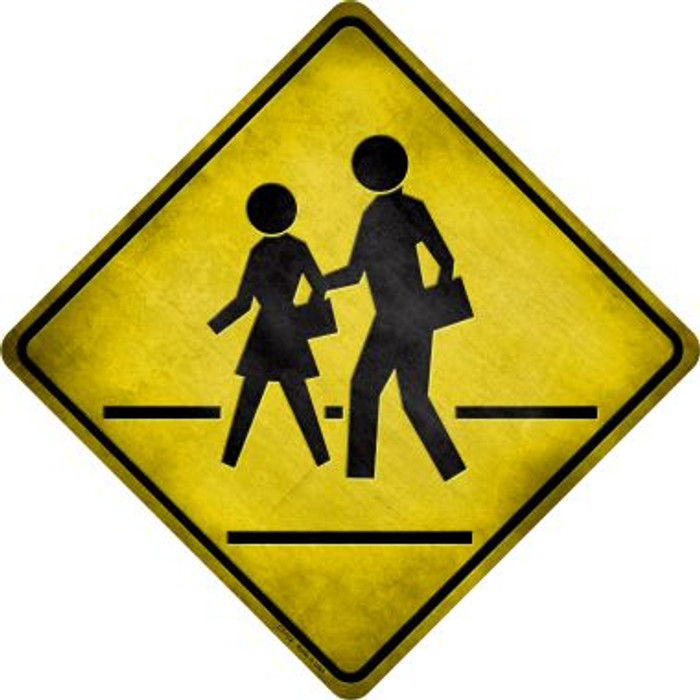 Pedestrian Crossing Novelty Metal Crossing Sign