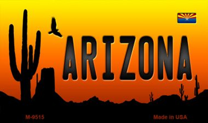Arizona Scenic Background Novelty Metal Magnet