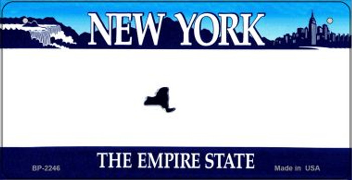 New York Novelty State Background Bicycle License Plate